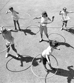hoola hoop, action and black and white