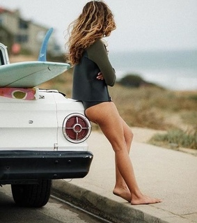 surfing, skate girl and surf