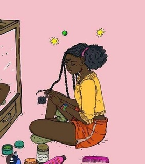 drawing, art and black girl art
