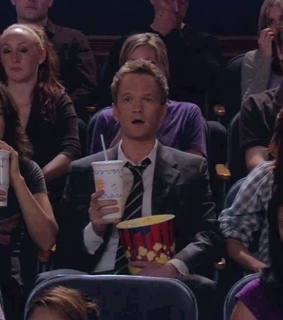 pop corn, barney stinson and show