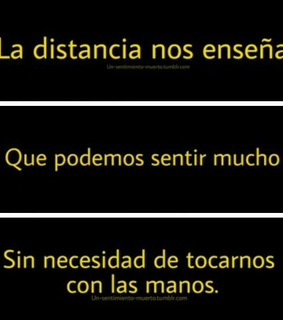 distancia, frases and tristes