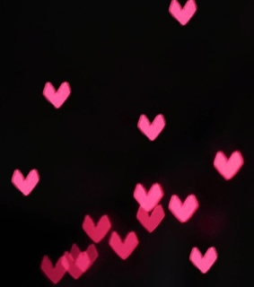 pink, glow in the dark and february