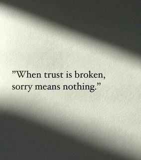 sorry, broken and quote