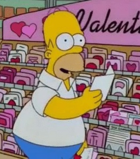 pink amp red, homer simpson and couples