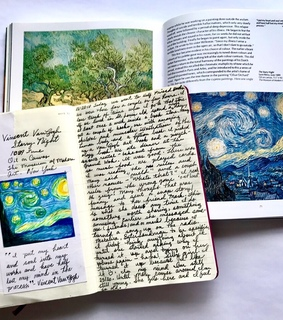 writing, vincent van gogh and books