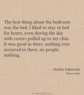 charles bukowski and words