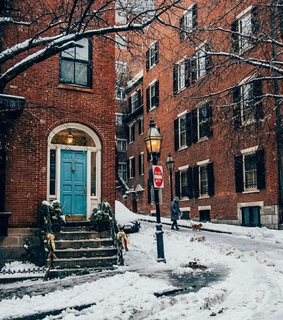 snow, nyc and streets