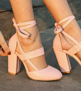 pale pink, straps and shoes