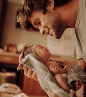 love, baby and dad