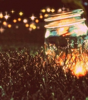 colorful, fireflies and lights