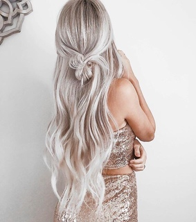 hairstyle, semi formal and blonde