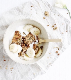 bowl, oats and breakfast