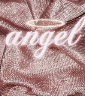 angel, gold and rose