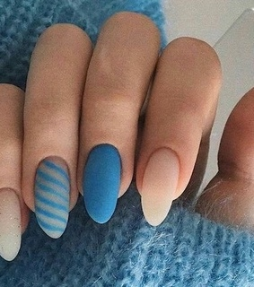 blue, nails and aesthetic