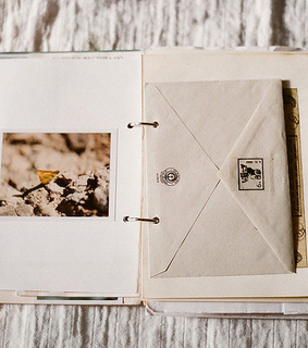 vintage, scrapbook and mail