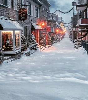 canada, christmas lights and snow