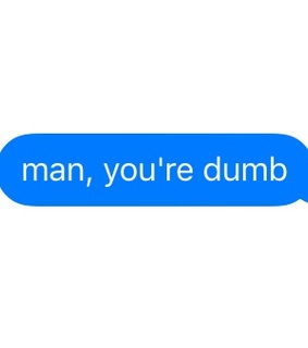 text message, blue and oc