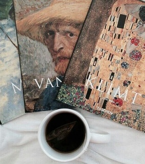 art books, art hoe and coffee and books