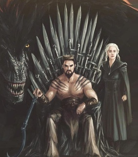 game of thrones, drogo and drogon