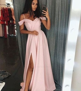 simple prom dress, a line prom dress and prom dress long