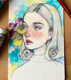 draw, female and painting
