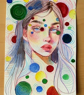 artist, watercolor and draw