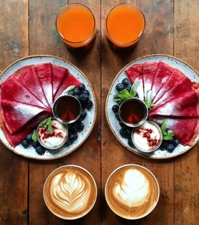 pancakes, healthy and symmetry breakfast
