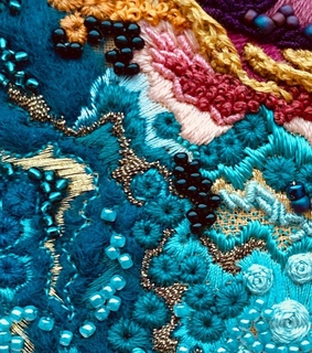 pattern, embroidery and colorful
