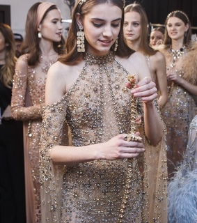 elie saab, haute couture and model