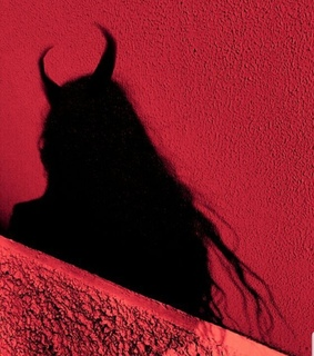 horns, red and demon