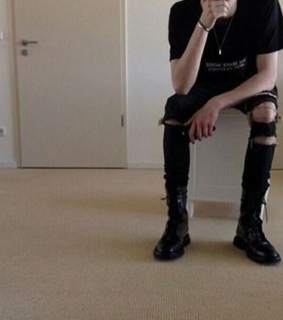 goth, style and boy