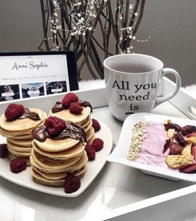 sweets, pancakes and breakfast