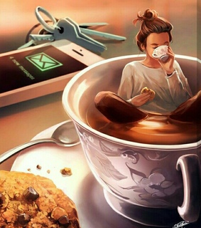 morning, cookies and coffee