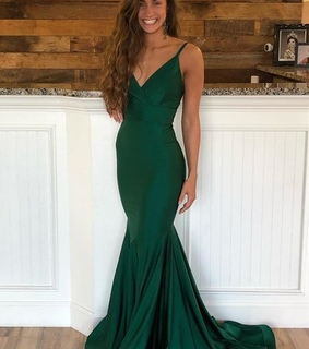 green prom dress, grad dress and girls