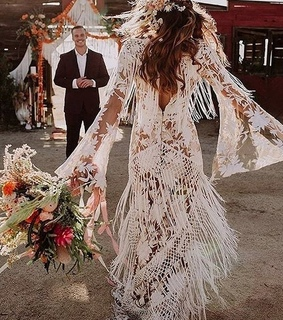 bouquet, wedding gown and bride
