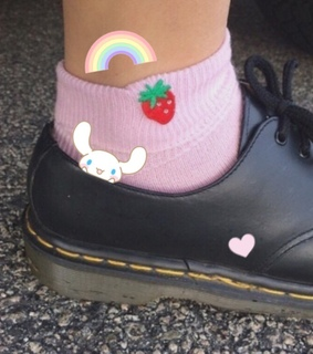 strawberry, grunge and shoes