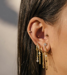 jewelry, ear piercings and earrings