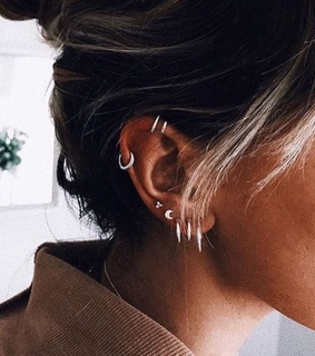 ear piercings, jewelry and earrings