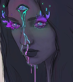 dripping, girl and aesthetics