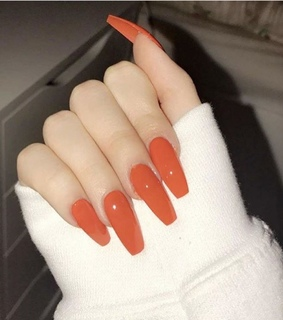 white, long nails and goals