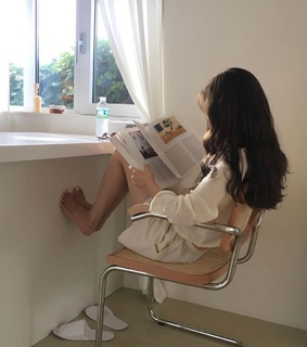 book, white aesth and hair