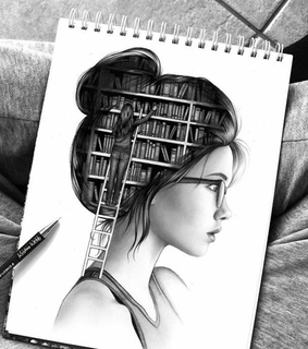 blanco y negro, libros and dibujo