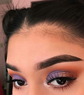 girls, brows and purple