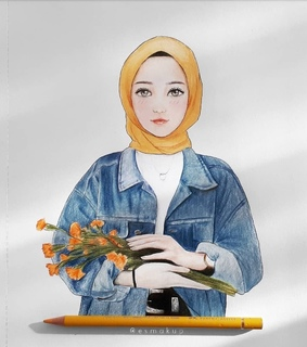 aesthetic, art and hijab style