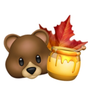 bear, leaf and png