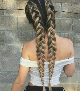 long, hair and braided