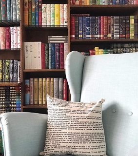 books, blue and aesthetic
