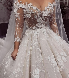 lace, wedding dress and breathtaking