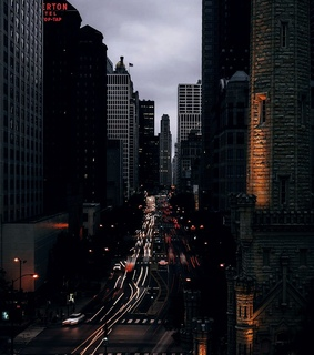 city night, buildings and city