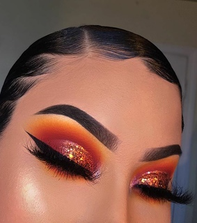 makeup, warm colors and beauty